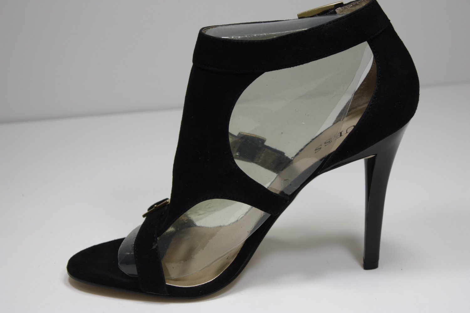 Guess Delicacy Pumps Black Suede Shoes US 8.5 $99