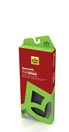 Spenco RX ThinSole Orthotics Foot Insoles Arch Support