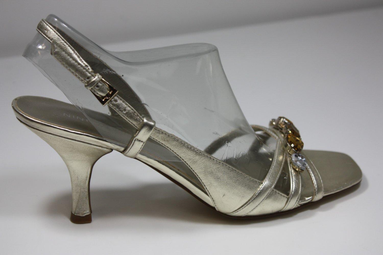 Nine West Kristian Pumps Gold Shoes US 8 $79