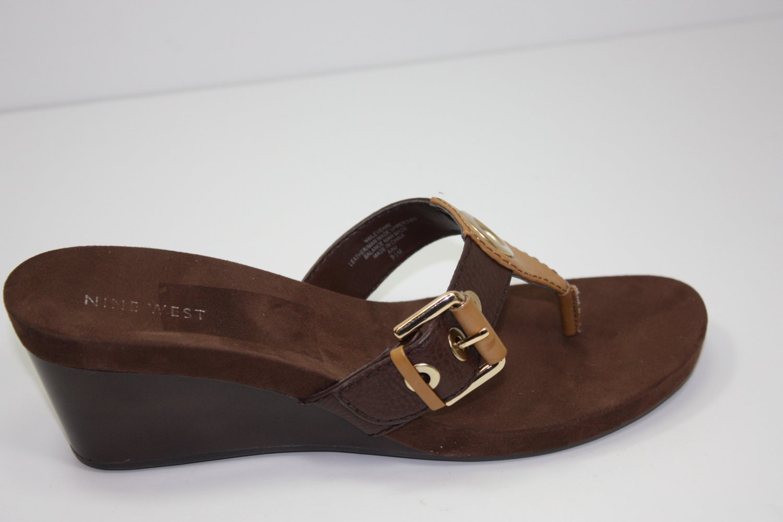 Nine West Levehim Sandals Light Brown Shoes US 9.5 $69