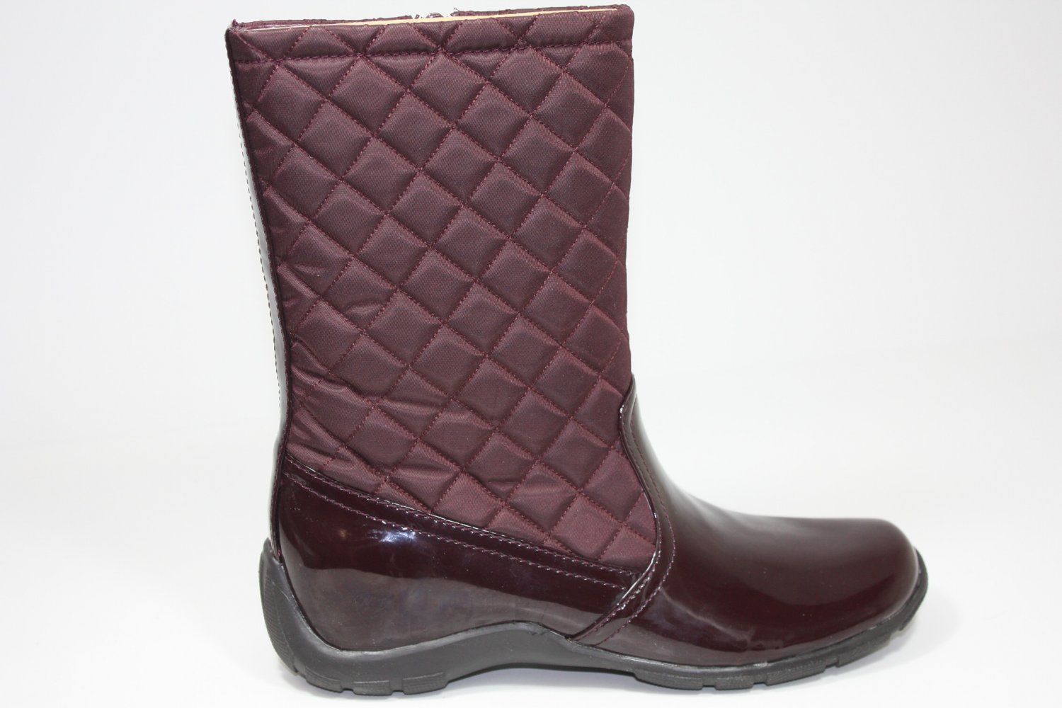 Naturalizer Vass-Bordo Quilted Boots Burgundy Shoes US