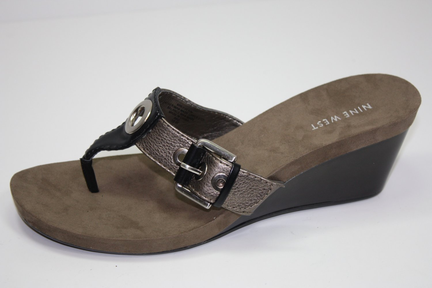 Nine West Levehim Sandals Bronze Shoes US 6.5 $69