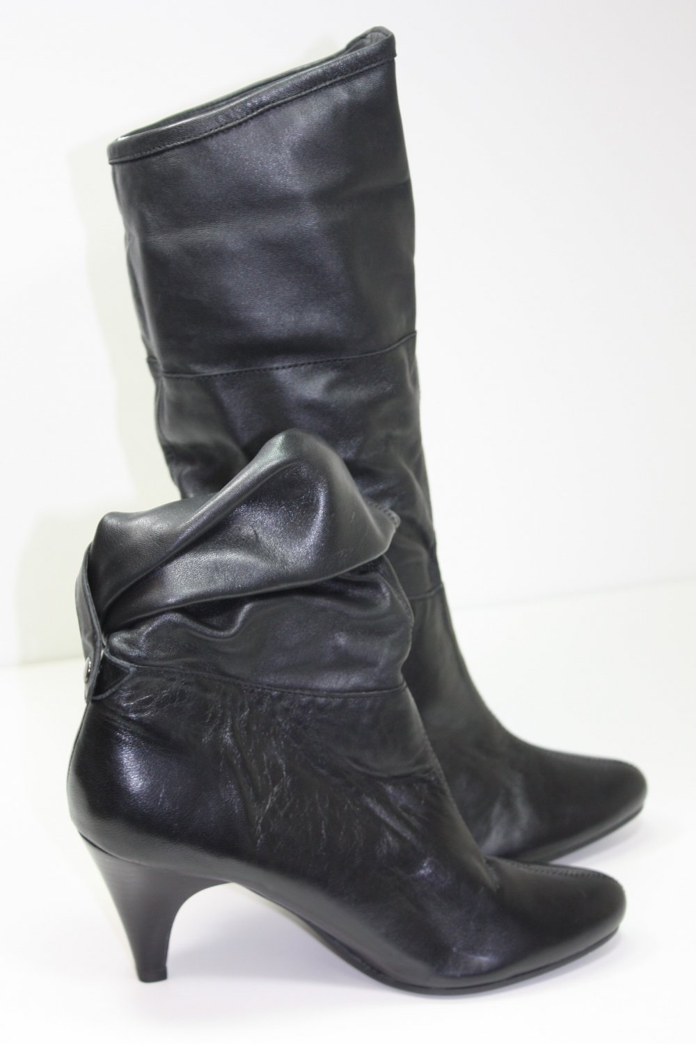 Style & Co Snappy Foldover Boots Black Shoes US 5.5 $11