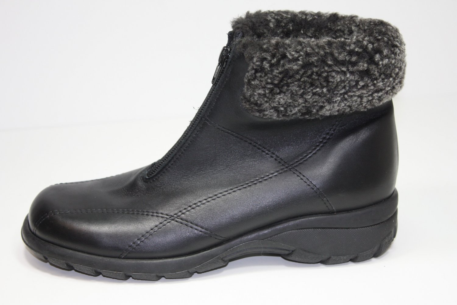 Martino Frosty Front Zip Ankle Boots Black Shoes US 8 $
