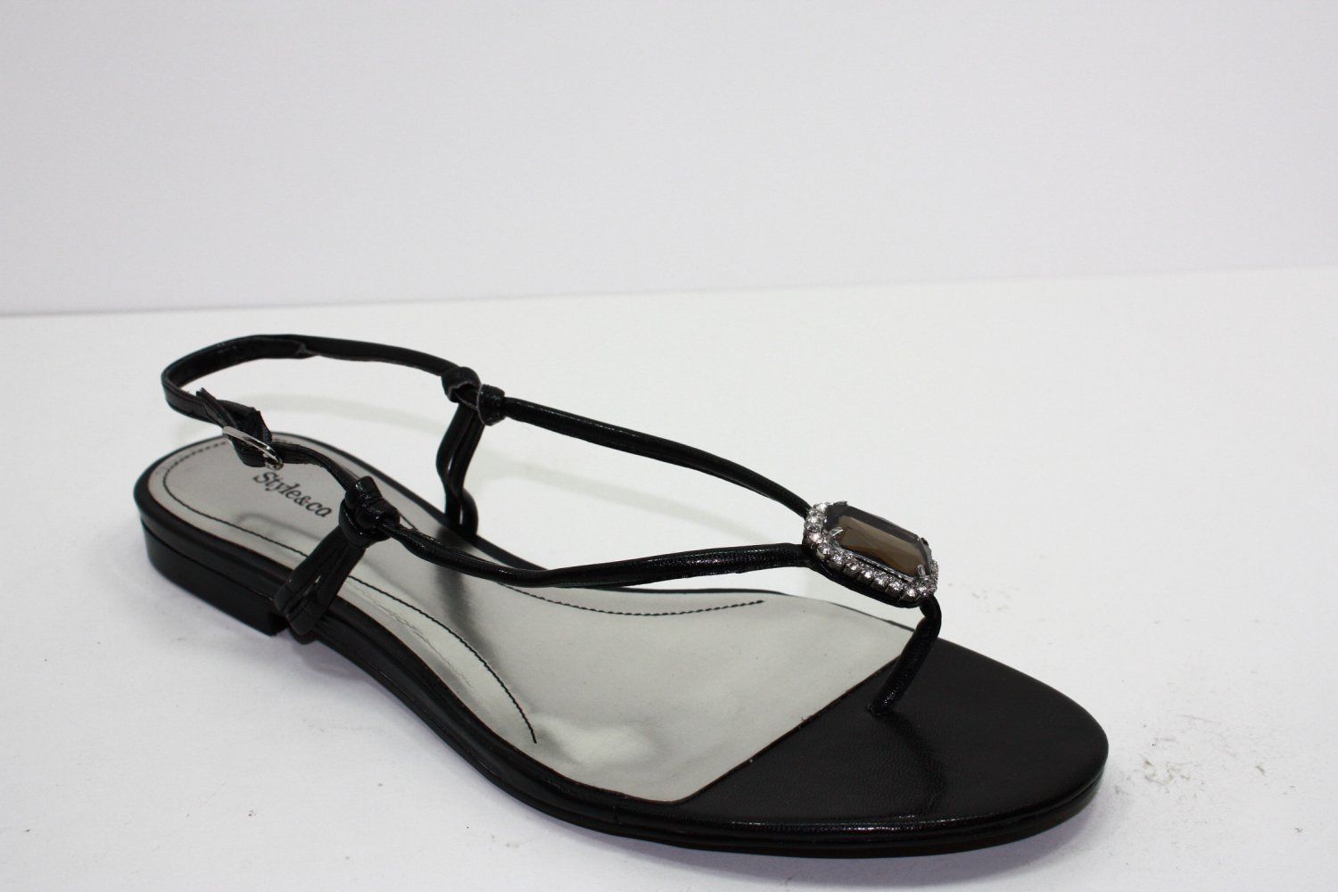 Style & Co JUBILEE Sandals BLACK Womens Shoes 6.5