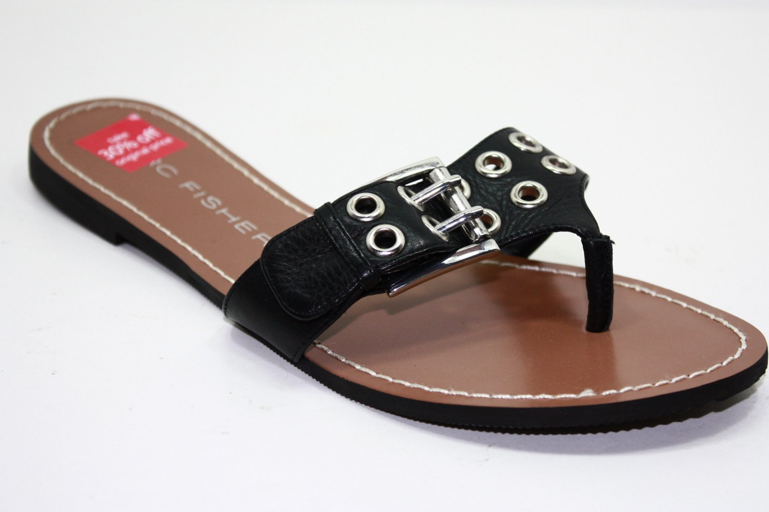 Marc Fisher ABBEY Sandals BLACK Womens Shoes 7.5