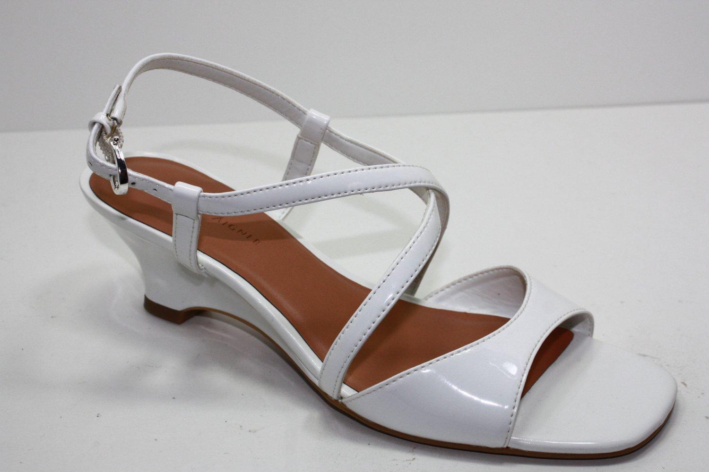 Etienne Aigner TOLAN Sandals WHITE Womens Shoes 9.5