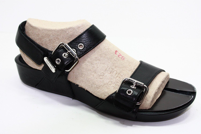 Aetrex MANDEHLE Sandals BLACK Womens Shoes 8.5