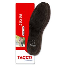 Tacco Leather Insoles Black Foot Comfort All Sizes
