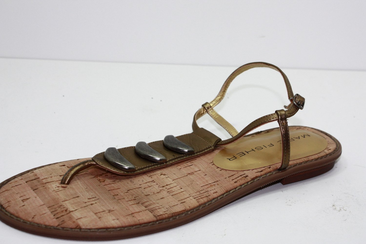 Marc Fisher VISIONS Sandals GOLD Womens Shoes 9.5