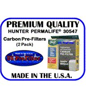 HUNTER PERMALIFE 30547 Carbon Pre-Filter (2 Prefilters) Made In The USA
