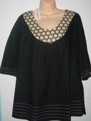 Black and Tan Plus size top