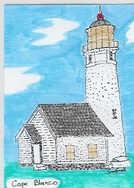 Cape Blanco Lighthouse ACEO  Oregon  COA