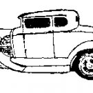 1931 Coupe Car Rubber Stamp Sue's Original signed coa