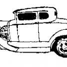 1931 Coupe Car Rubber Stamp Sue's Original signed coa