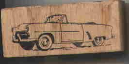 1952 Ford Convertable car rubber stamp Automobile
