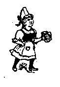 Beer Maid serving rubber Stamp Maiden German