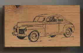 1948 mERCURY cAR aUTOMOBILE Rubber Stamp