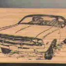 1971 Dodge Challenger Car Rubber stamp