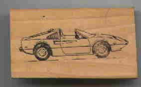 Ferrari 308 Car rubber stamp side view