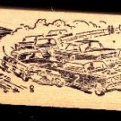 Vintage race Cars racing on dirt track #2 car