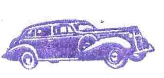 1938 Buick Sedan car rubber stamp