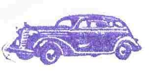 1938 Dodge Sedan car rubber stamp