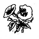 Morning Glory Flower Rubber Stamp