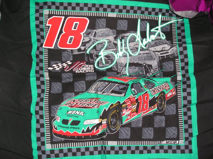 Bobby Labonte Nascar Fabric 2002 Fat Quarter Pillow top