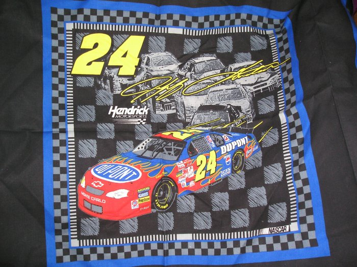 Jeff Gordon Nascar Fabric 2002 Fat Quarter Pillow top