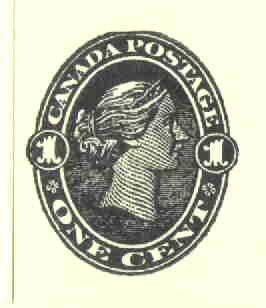 Canada 1 cent Vintage Postage Stamp rubber stamp