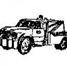Auto Wrecker Tow Truck rubber stamp