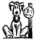 Dog 1st place ribbion Rubber stamp