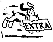 Dog with EXTRA Paper rubber stamp