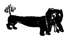 Dog Dachshund rubber stamp weiner dog
