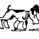 Dog Walking rubber stamp
