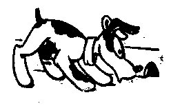 Dog Sniffing Rubber stamp