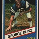 1976 Wonder Bread Football card #7 George Kunz Colts