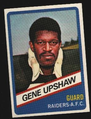 1976 Wonder Bread Football card #9 Gene Upshaw Raiders