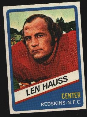 1976 Wonder Bread Football card #11 Len Hauss Redskins