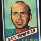 1976 Wonder Bread Football card #12 Garo Yepremian Dolphins