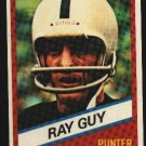 1976 Wonder Bread Football card #24 Ray Guy Raiders