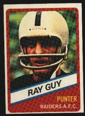1976 Wonder Bread Football card #24 Ray Guy Raiders