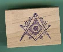 Mason logo Masonic rubber stamps large with rays