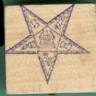 OES Eastern Star Masonic logo rubber stamp large fancy border