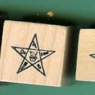 set of 4 OES Rubber Stamps Eastern Star Masonic tiny-large