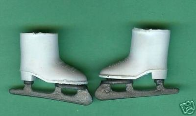 Barbie Vintage Ice Skates with Hong Kong Plastic runner