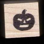 Jack-o-lantern Halloween rubber stamp Free shipping Pumpkin