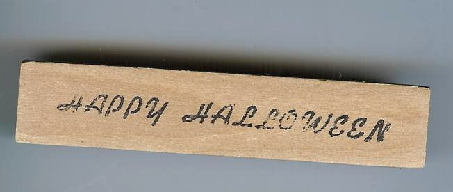 Happy Halloween saying rubber stamp