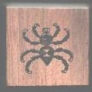 Black Widow Spider Halloween rubber stamp